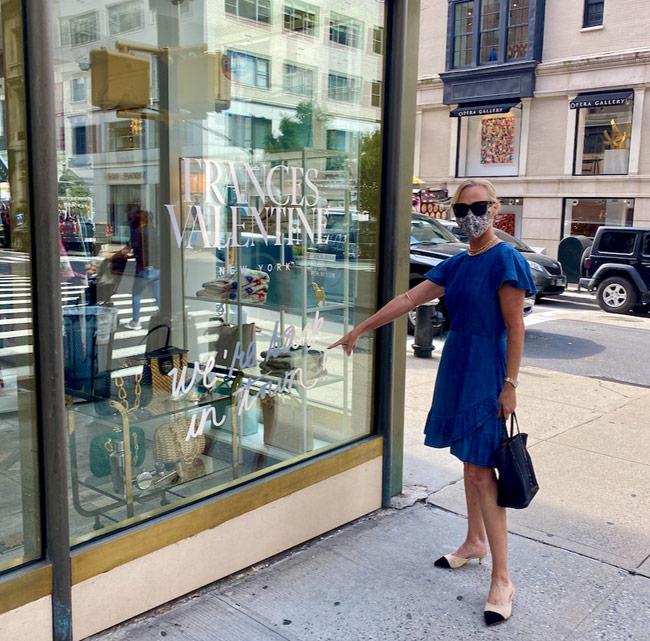 Karen Klopp, Hilary Dick, New York Social Diary shop Madison Avenue, New York, Francis Valentine