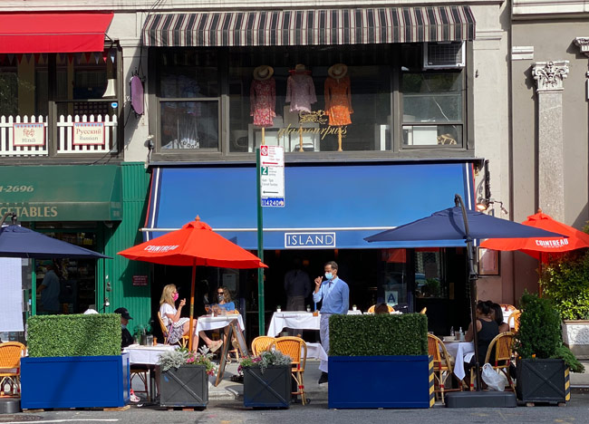 New York Social Diary Karen Klopp & Hilary Dick article on Carnegie Hill.   Island Restaurant