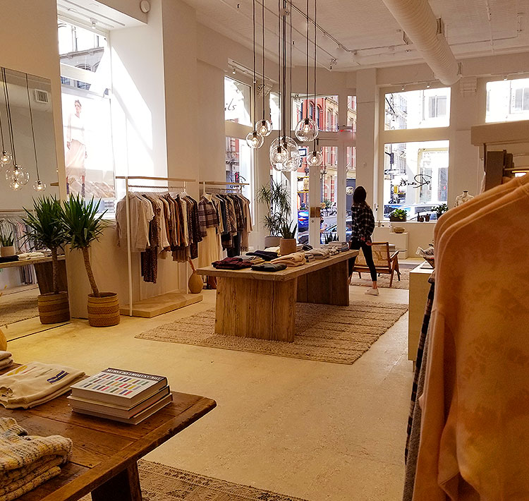 A Light Filled and Airy Boutique in Soho