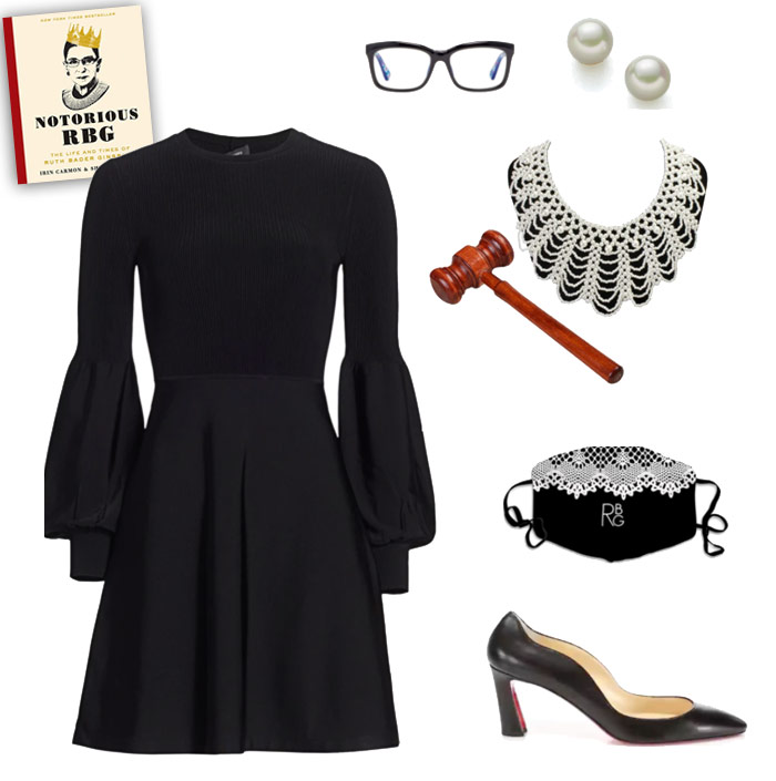 Karen Klopp & Hilary Dick article for New York Social Diary What to wear Halloween 2020.  Ruth Bader Ginsberg.