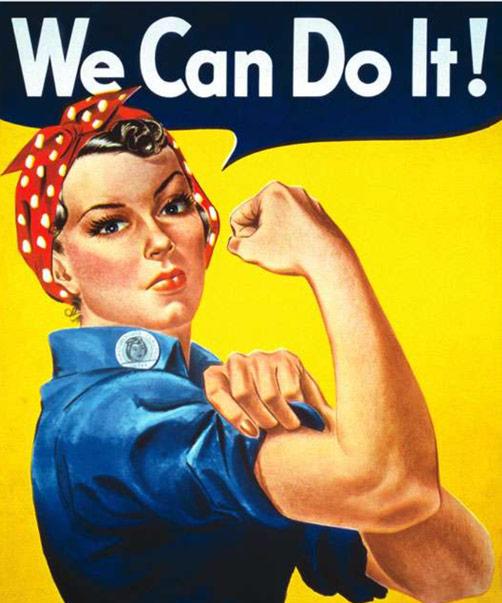 Karen Klopp & Hilary Dick article for New York Social Diary What to wear Halloween 2020. Rosie the Riveter.