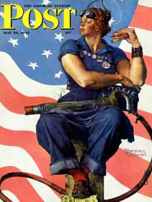 Karen Klopp & Hilary Dick article for New York Social Diary What to wear Halloween 2020.  Rosie the Rosie the Riveter, Saturday Evening Post, Normal Rockwell