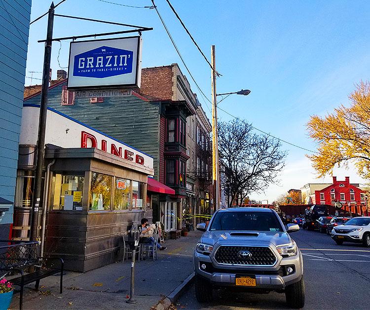 Outside The Grazin' Diner