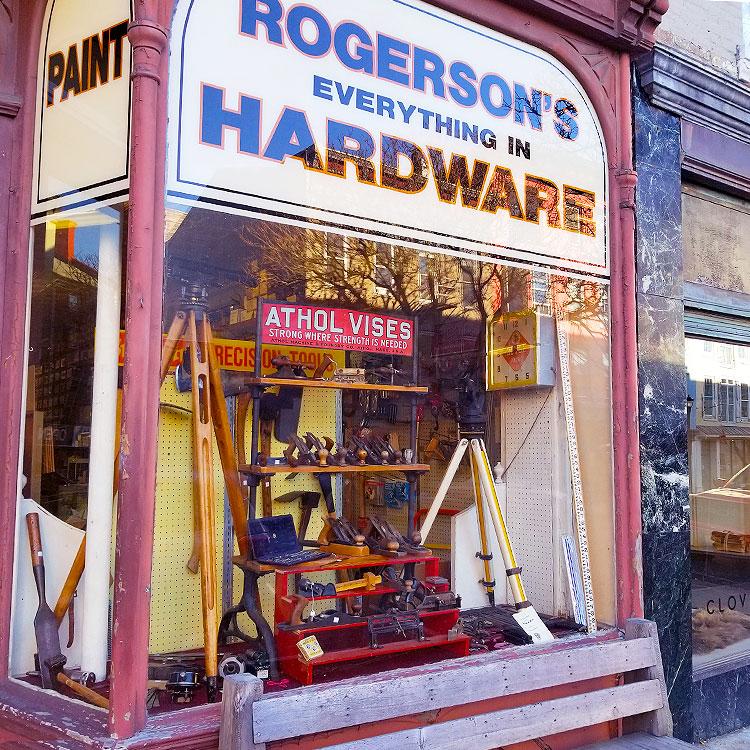 Antique Hardware Fills the Window