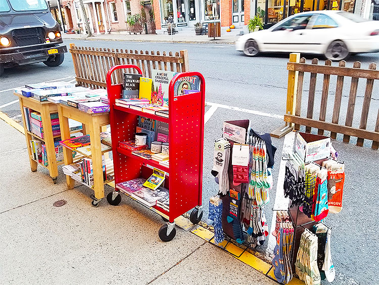Books and Socks on The Street