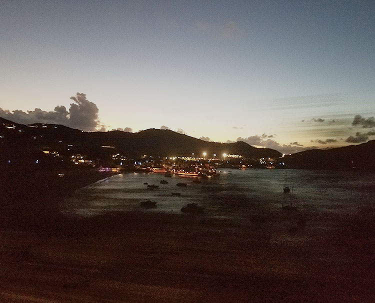 A Sunset Over the Baie de Saint Jean.