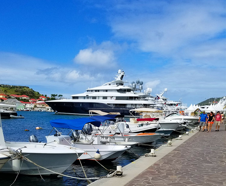 The Harbour at Gustavia