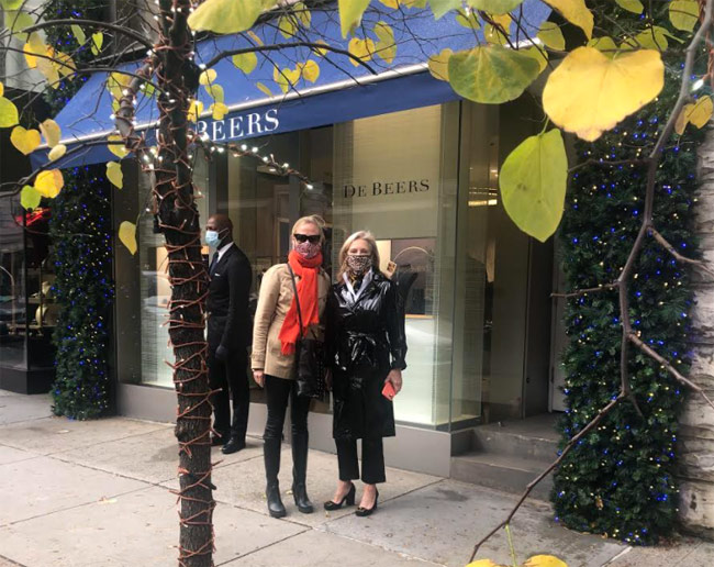 Karen Klopp, Hilary Dick article New York Social Diary, Miracle on Madison, Society Memorial Sloan Kettering Cancer Center, De Beers Diamonds