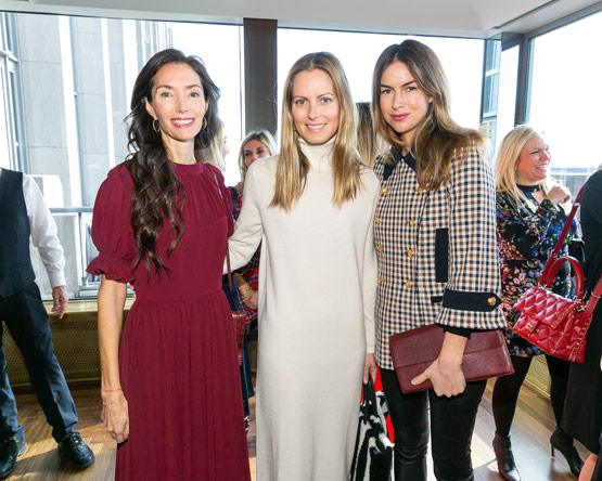New York Social Diary article by Karen Klopp & Hilary Dick on What to wear to the Society Of memorial Sloan Kettering's Annual Winter Lunch. Olivia Chantecaille, Ferebee Taube, and Claiborne Swanson Frank.