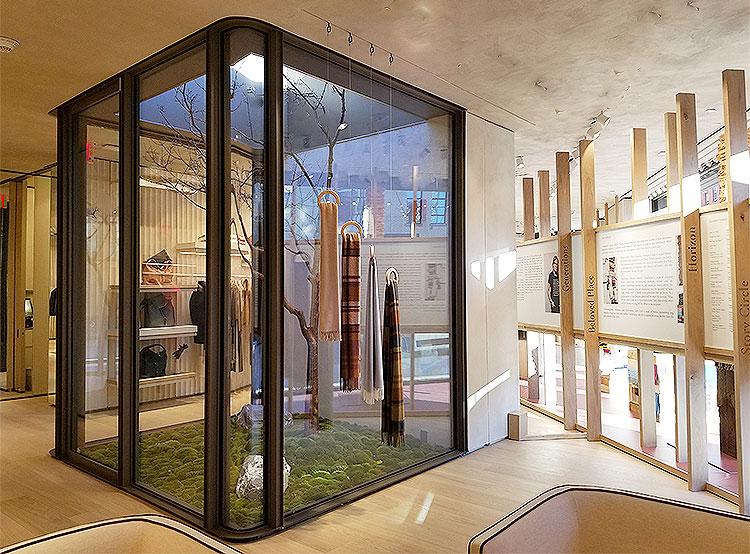 A Decorative Atrium Divides the Shop.