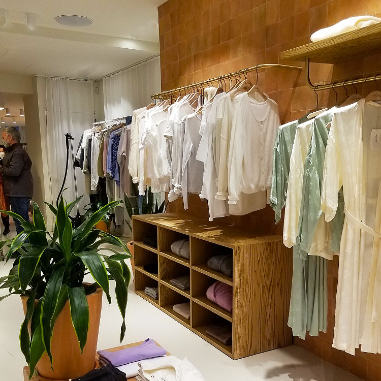 White tess shirts and dresses