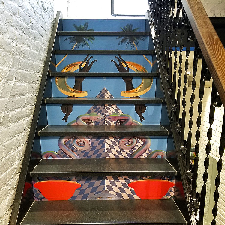 A painted staircase in NY