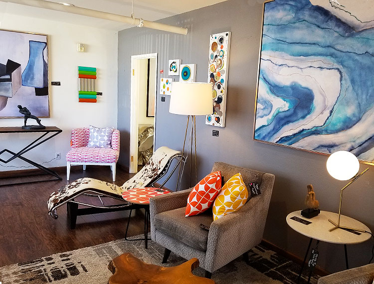 Mid-Century Furniture and Paintings in Palm Springs