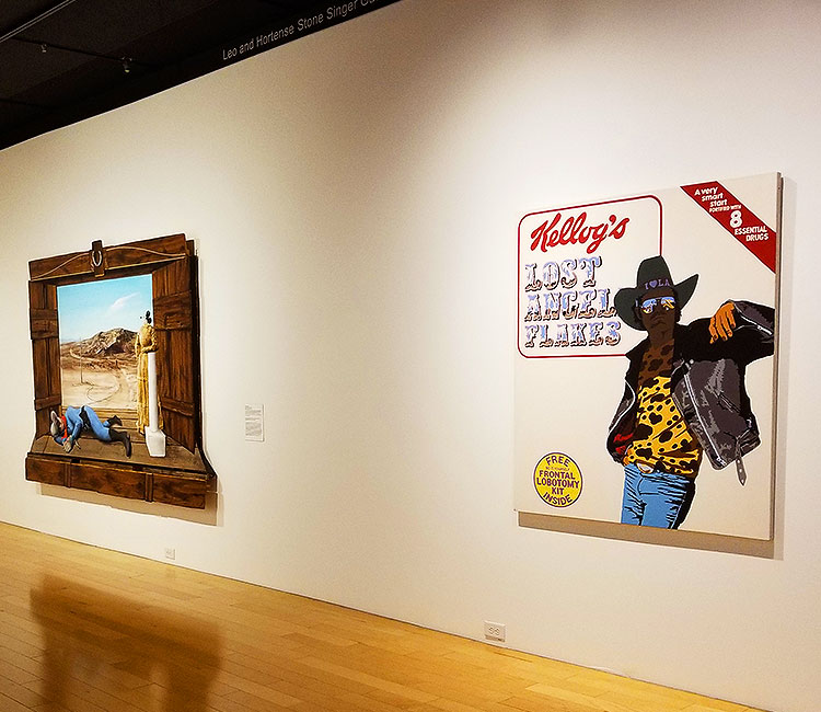 Cowboy Comedy Art in Palm Springs