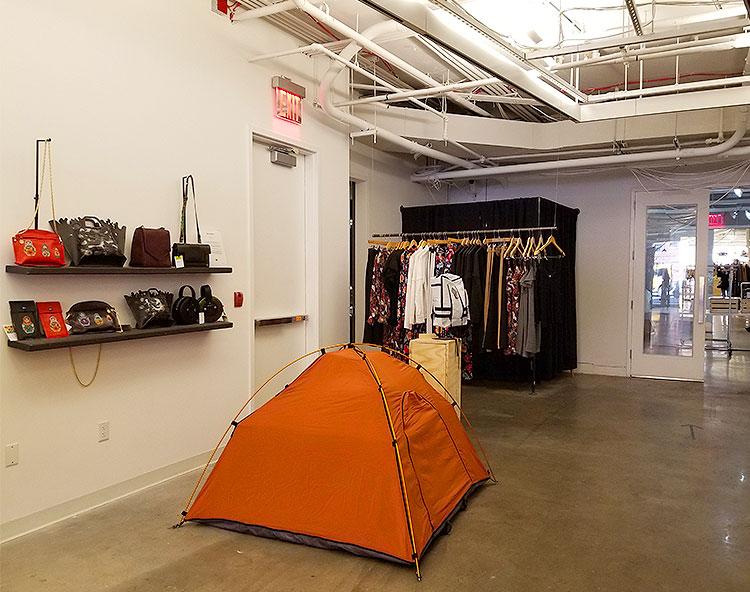 A Tent in A Corner