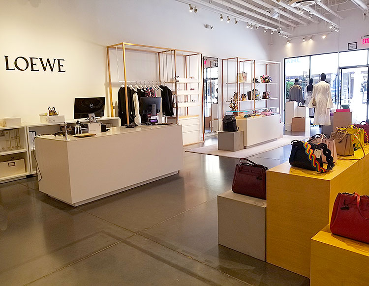Clothing and Bags in the Loewe Shop