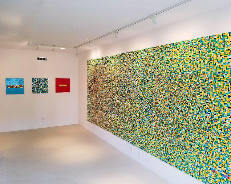 Artworks Composed of Legos on Wood on Madison