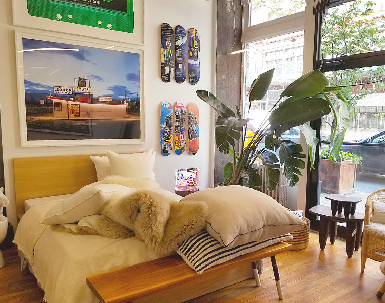 Furniture and Pillows With Skate Decks