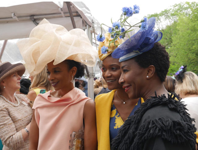 karen klopp, hilary dick,what to wear,  Hat Lunch New York Social Diary. Central park conservancy luncheon