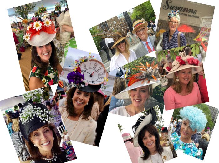 karen klopp, hilary dick, Hat Lunch New York Social Diary. Central park conservancy luncheon, Suzanne hats