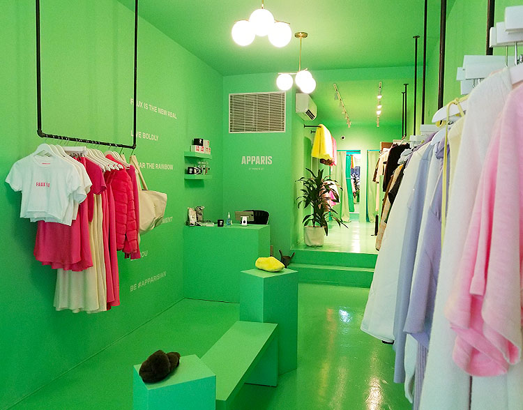 The Interior of The Boutique