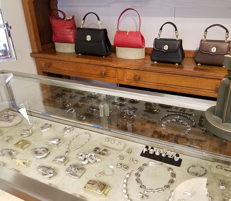 Buckles and Jewelry, Along with More Bags