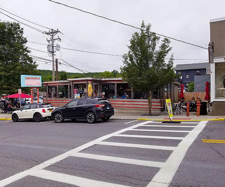 The Oakhurst Diner on Main Street