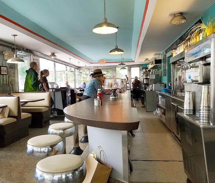 Inside Oakhurst Diner