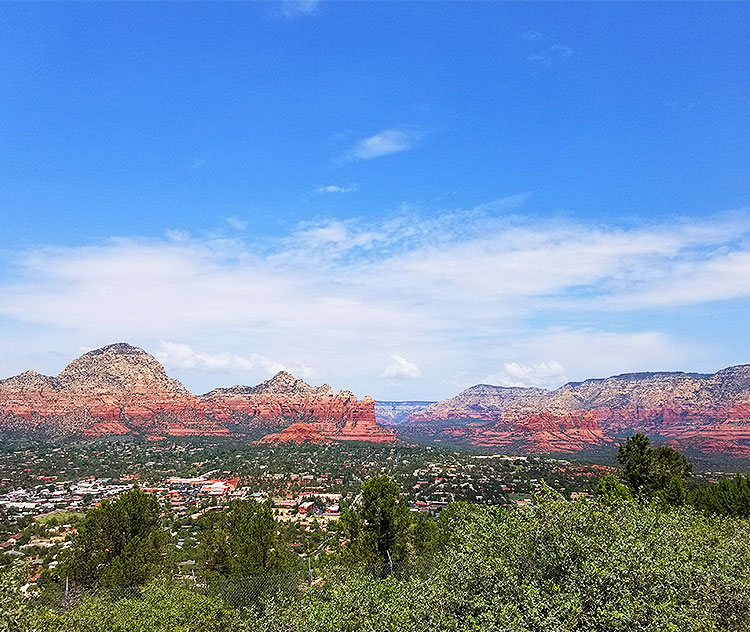 A View of Sedona From Airport Road