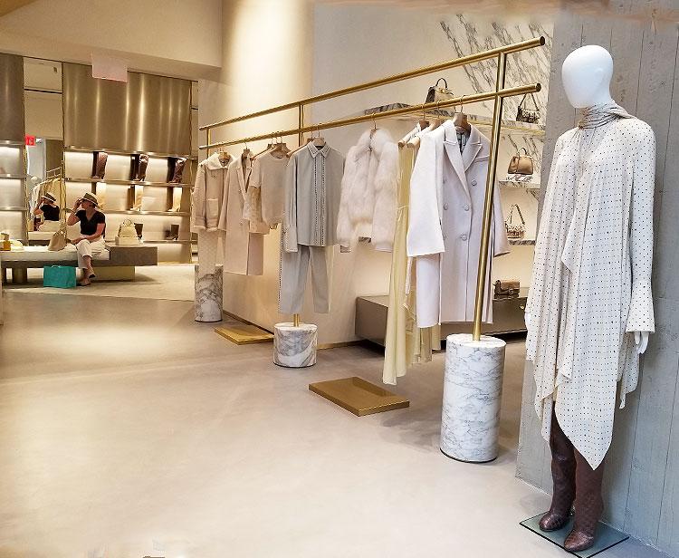Elegantly Displayed Clothing at Fendi
