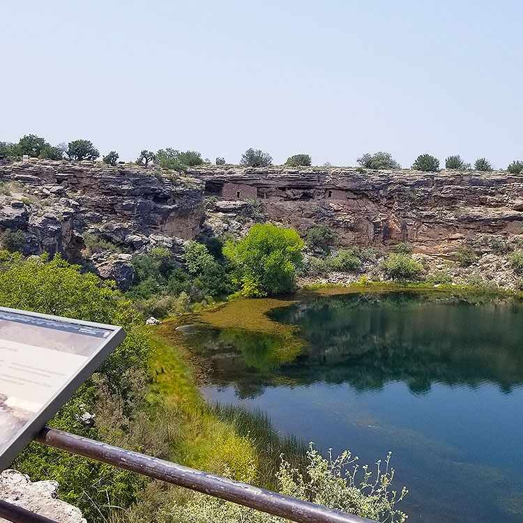 The Cliff Dwellings at Montezuma Well