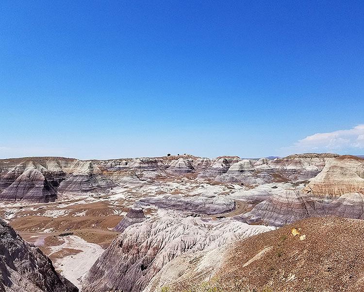 The Blue Mesa in Arizona