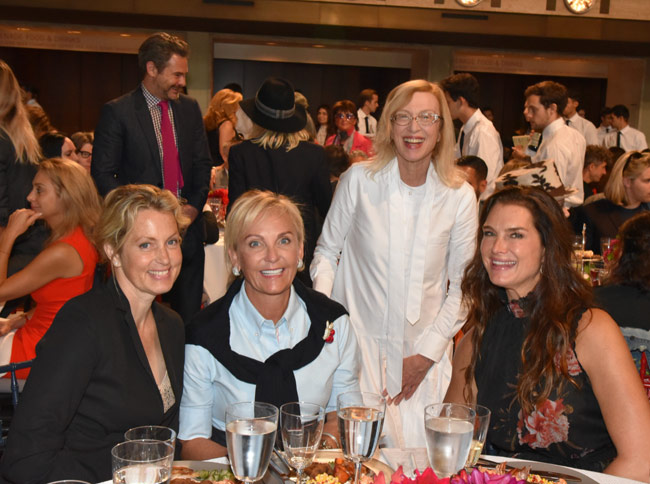 Karen Klopp and Hilary Dick article for New York Social Diary, What to Wear to the Couture Council Of FIT Artistry Of Fashion Awards.Ali Wentworth, Sharon Jacob, Valerie Steele, and Brooke Shields.
