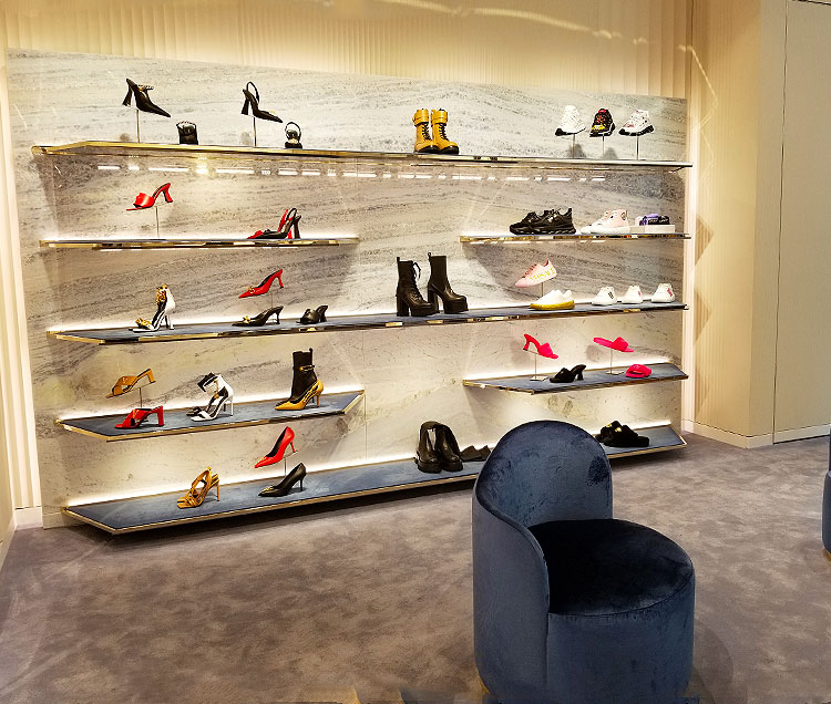 A Wall of Women's Shoes