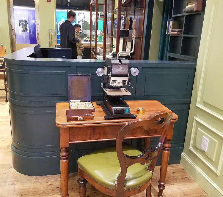 A Machine for Embossing Leather